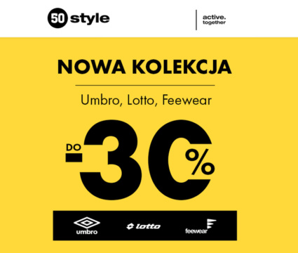 Nowa kolekcja Umbro, Lotto Feewear do -30% w 50style