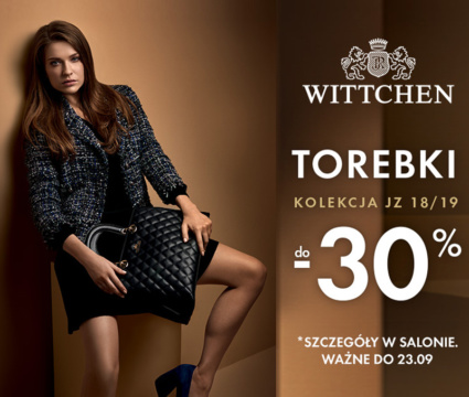 Torebki Wittchen taniej o 30%!