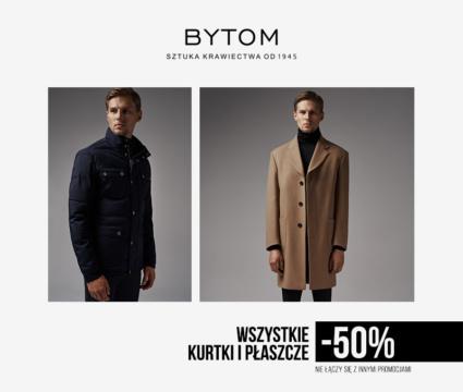 50% rabatu na kurtki i płaszcze w salonie Bytom