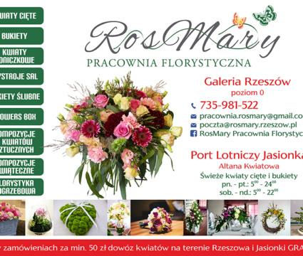 Kwiaciarnia Rosmary zaprasza!