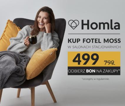 HOMLA – Fotel MOSS 499 PLN