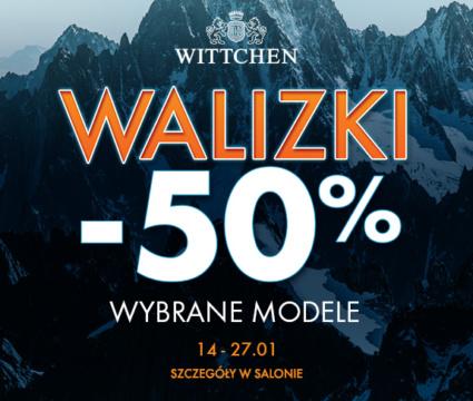 WITTCHEN – ZIMOWE SZALEŃSTWO : walizki -50%