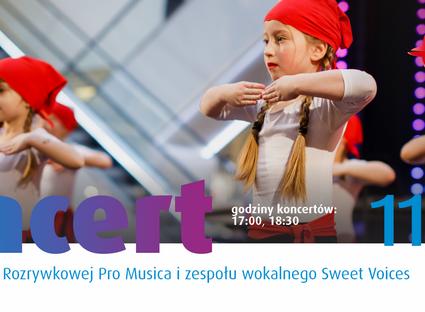 Koncert Szkoły Muzyki Rozrywkowej Pro Musica i zespołu wokalnego Sweet Voices